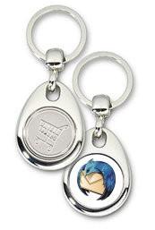 Schlüsselanhänger - Metall - Thunderbird - Einkaufswagen-Chip