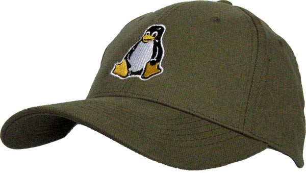 Baseballcap Tux - oliv-grün
