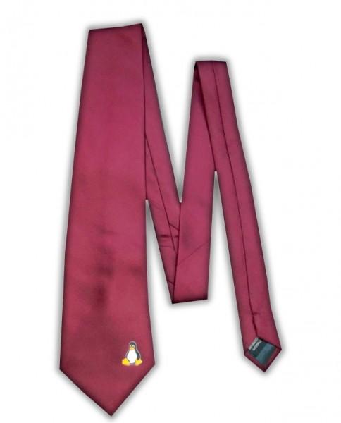 Linux Krawatte - Pinguin Tux - bordeaux