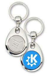 Schlüsselanhänger - Metall - KDE - Einkaufswagen-Chip