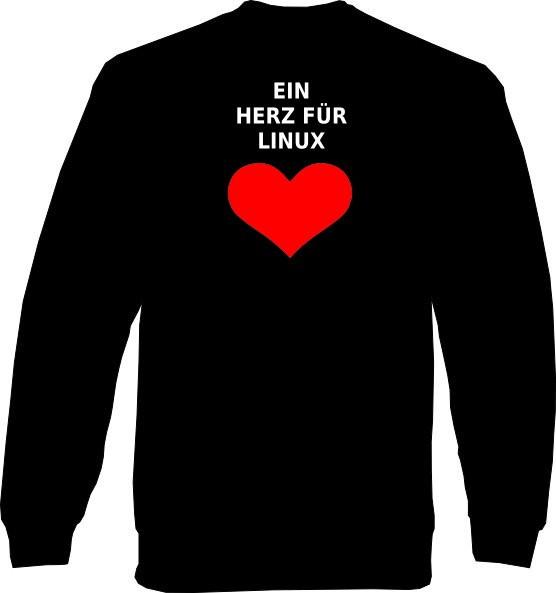 Sweat-Shirt - Ein Herz für Linux