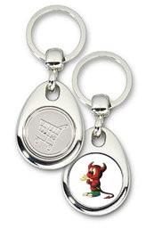 Schlüsselanhänger - Metall - BSD - Einkaufswagen-Chip