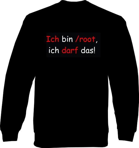 Sweat-Shirt - Ich bin /root