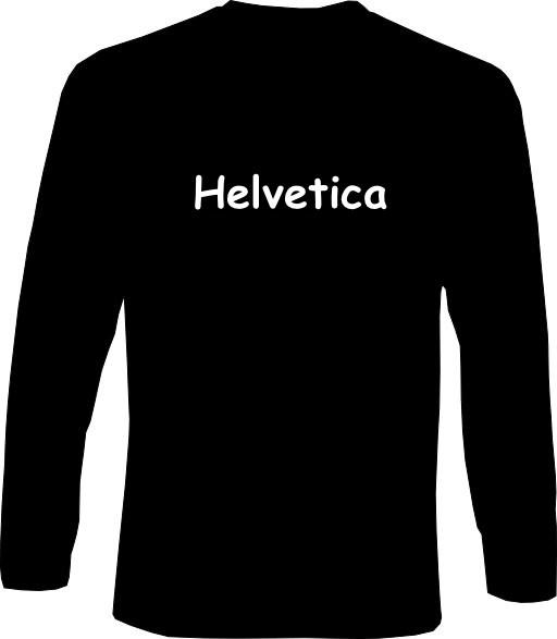 Langarm-Shirt - Helvetica
