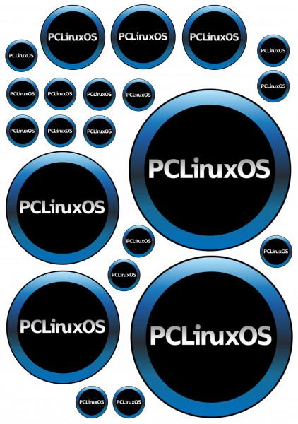 Maxi-Sticker - PCLinuxOS A4