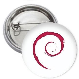 Ansteckbutton - Debian