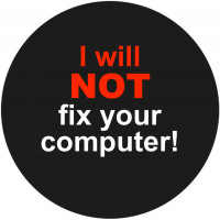 Notebook-Sticker - I Will Not Fix Your Computer