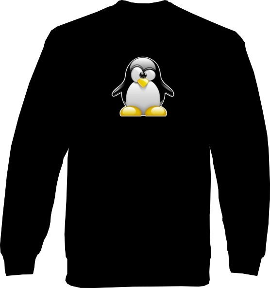 Sweat-Shirt - 3D Tux