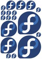 Maxi-Sticker - Fedora A4