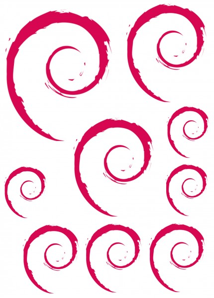 Maxi-Sticker - Debian A4