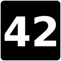 Tasten-Sticker - 42 - Die Antwort - schwarz