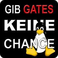 Notebook-Sticker - Gib Gates keine Chance