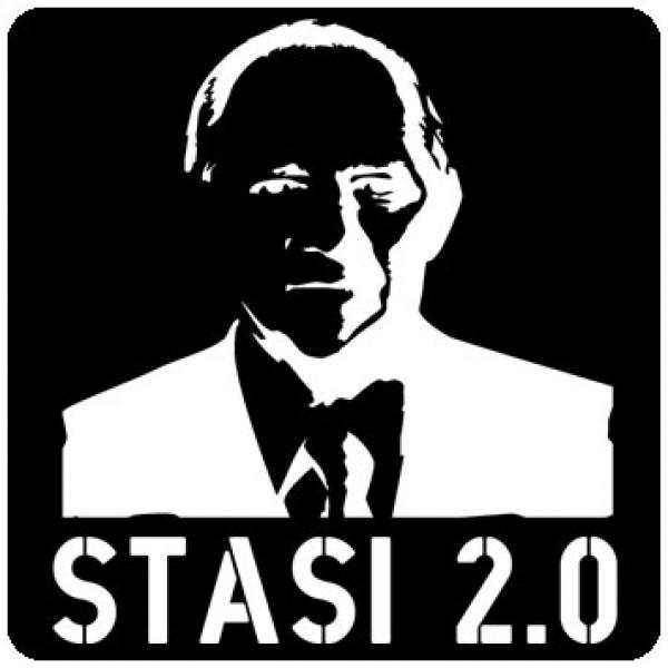 Notebook-Sticker - Stasi 2.0 - schwarz