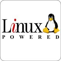 Notebook-Sticker - Linux powered