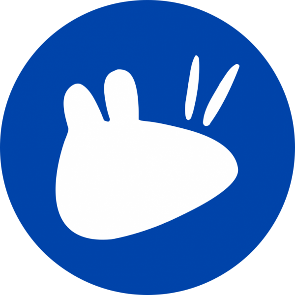 Notebook-Sticker - Xubuntu Logo - rund