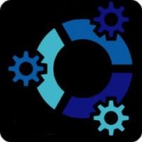 Notebook-Sticker - kubuntu - schwarz