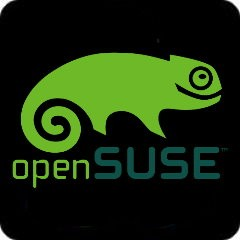 Notebook-Sticker - openSUSE - schwarz