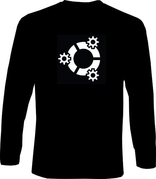 Langarm-Shirt - kubuntu Logo