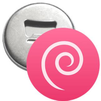Flaschenöffner + Magnet - Debian Logo einfach