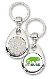 Schlüsselanhänger - Metall - openSUSE - Einkaufswagen-Chip