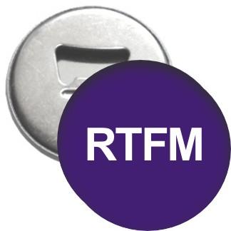 Flaschenöffner + Magnet - RTFM