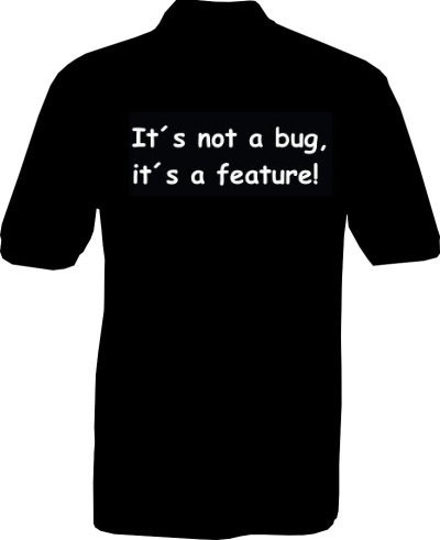 Polo-Shirt - its not a bug - Rückseite